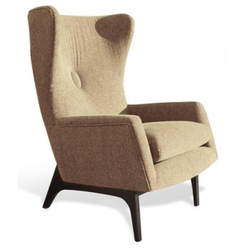50-50 Retro Wing Upholstered Chair