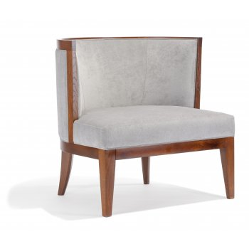 Adele PL Dark Wood Lounge Chair NL