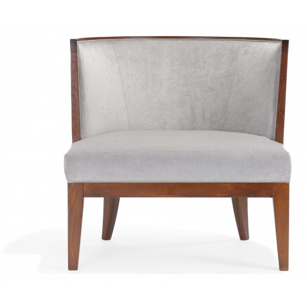 Adele PL Dark Wood Lounge Chair NL from Ultimate Contract UK