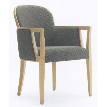 Agata Grey and Light Wood Armchair