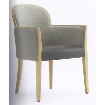 Agata Spoon Grey and Light Wood Armchair