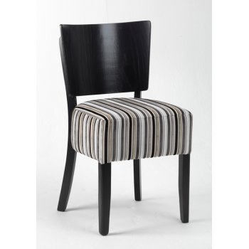 Alto Striped Seat, Dark BackSide Chair