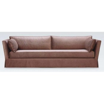 Avenues Brown Leather Sofa