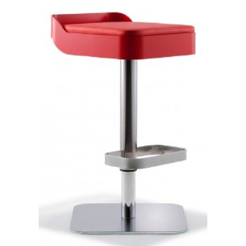 Band Crimson Upholstered Barstool