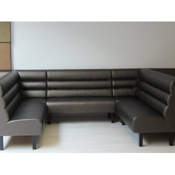 Banquette with Horizontal Stitching