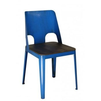 Barcelo Blue Side Chair ALU