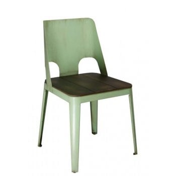 Barcelo Green Side Chair ALU