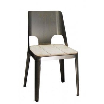 Barcelo Plain Side Chair ALU