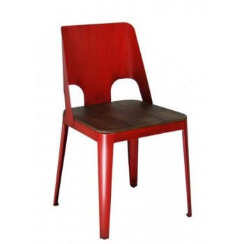 Barcelo Red Side Chair ALU