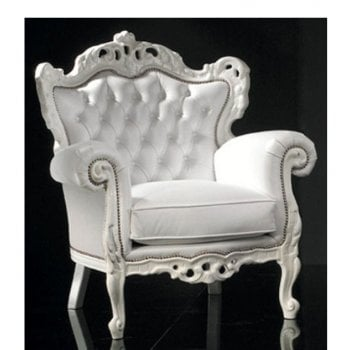 Baroque Silver Upholstered Classic Chair