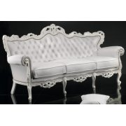 Baroque Silver Upholstered Sofa