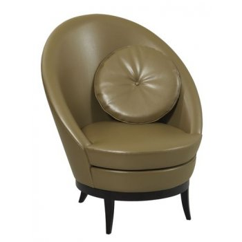 Bell Maple Dark Upholstered Chair