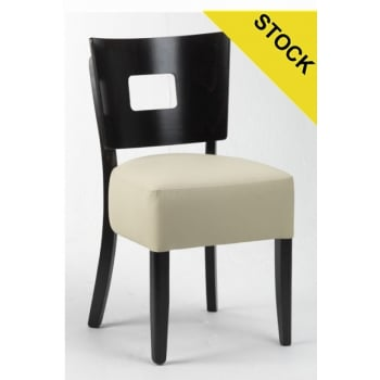 Best Value Collection Alto Cream Seat, Square Back Side Chair