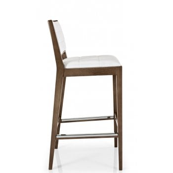 Best Value Collection Cibelle Cream and Dark Wood Barstool M620 MC