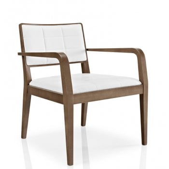Best Value Collection Cibelle White and Dark Wood Armchair M619 MC