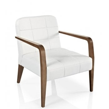 Best Value Collection Cibelle White and Dark Wood Armchair M621 PQ MC
