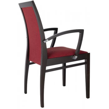 Best Value Collection Denia Crimson and Dark Wood Armchair M40B