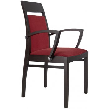 Best Value Collection Denia Crimson and Dark Wood Armchair M42B