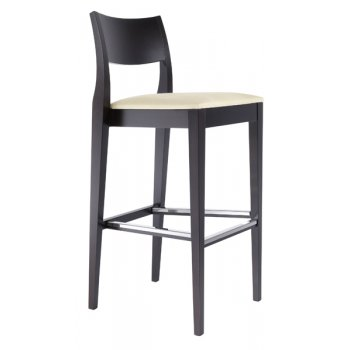 Best Value Collection Elie Cream and Dark Wood Barstool M64
