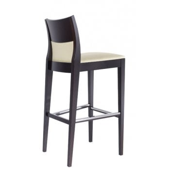Best Value Collection Elie Cream and Dark Wood Barstool M65