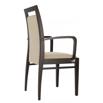 Best Value Collection Elika Cream and Dark Wood Armchair M384B