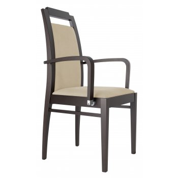 Best Value Collection Elika Light and Dark Wood Armchair M380B