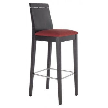 Best Value Collection Flox Crimson Seat and Dark Wood Barstool M202
