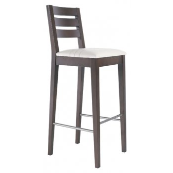 Best Value Collection Marty Cream and Dark Wood Barstool M441
