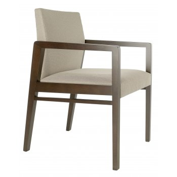 Best Value Collection Optima Cream and Dark Wood Armchair M47