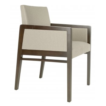 Best Value Collection Optima Cream and Dark Wood Armchair M48