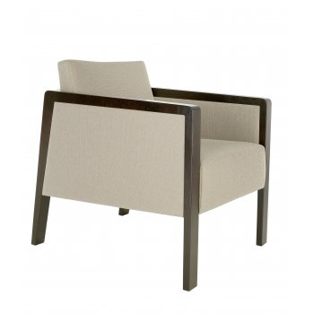 Best Value Collection Optima Cream and Dark Wood Armchair M490