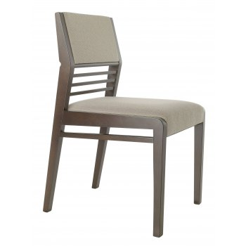 Best Value Collection Optima Cream Seat Dark Wood Side Chair