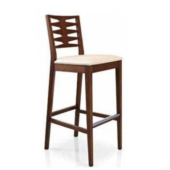 Best Value Collection Renny Cream and Dark Wood Barstool M211