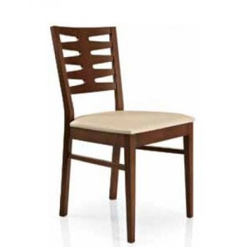 Best Value Collection Renny Cream Seat and Dark Wood Chair M210