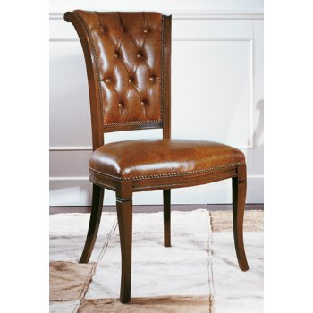 Biedermeier Leather Classic Chair