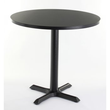 Black Top Round Dining Table