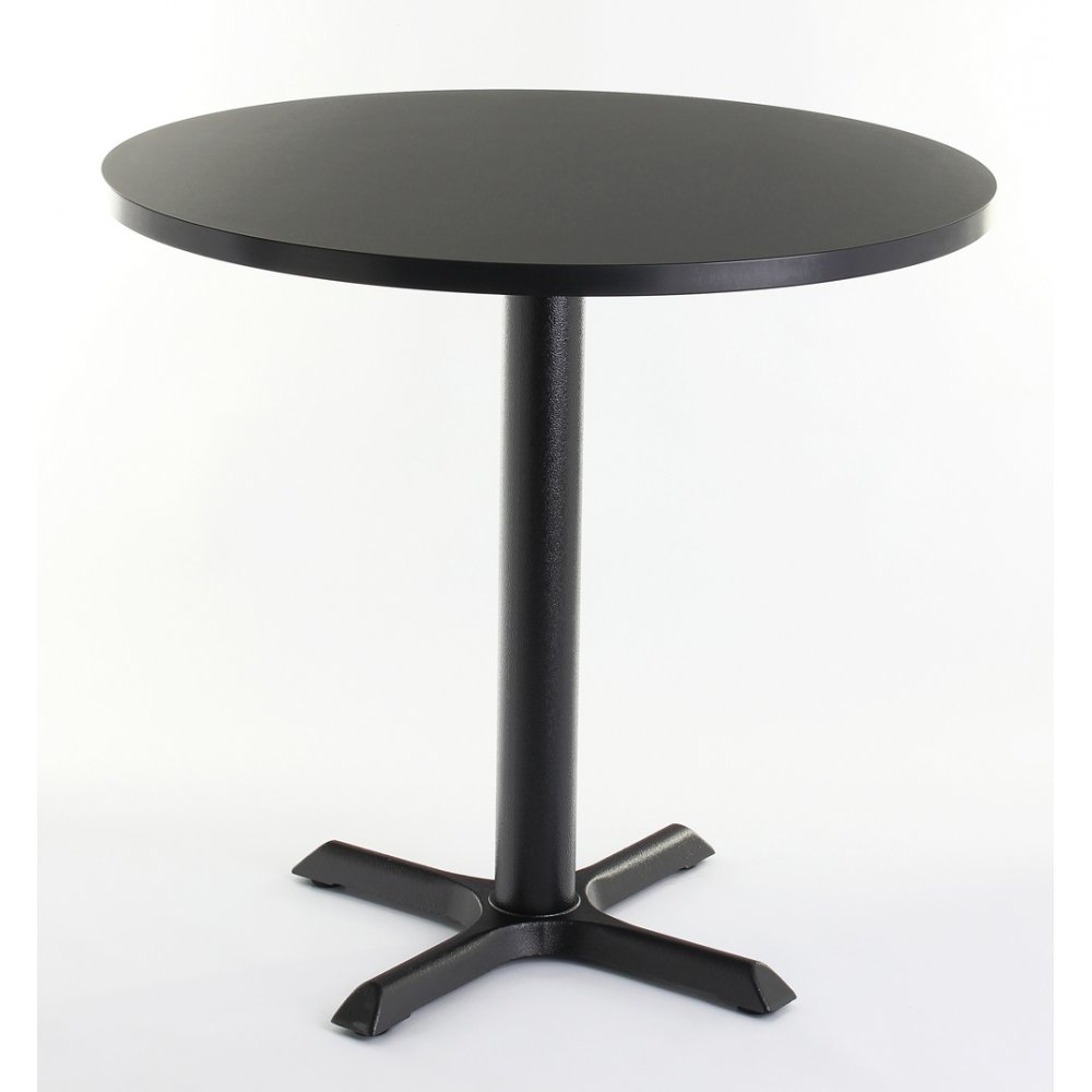 Black top round dining table from ultimate contract uk for Black round dining table