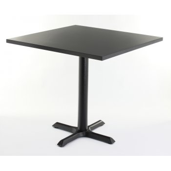 Black Top Square Dining Table