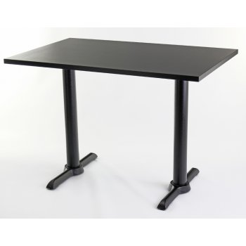 Black Top Twin Table