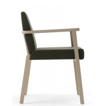 Braid Dark Seat and Light Wood Armchair 610