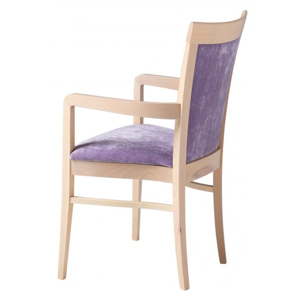 Bramham C Purple And Light Wood Armchair From Ultimate