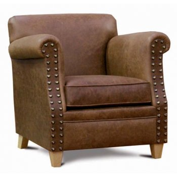 Camel Upholstered Lounge Chair LRA