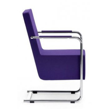 Cantu Purple Upholstered Armchair