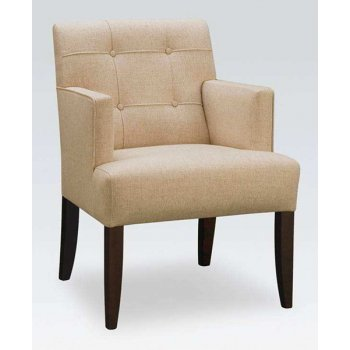 Casa Cream and Dark Wood Armchair