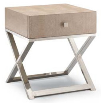 Chic 8 Light Wood and Metal Table