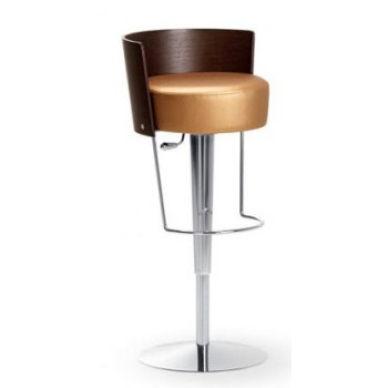 Circa Gold and Dark Wood Barstool