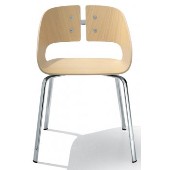 Clap Light Wood Side Chair