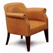 Club Leather Upholstered Chair LRA