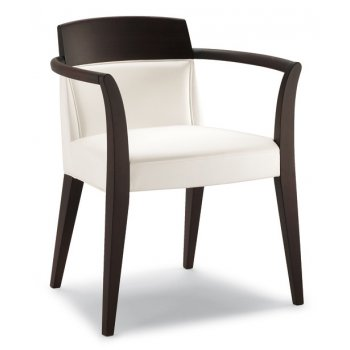 Cream and Dark Wood Armchair 1240/P