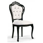 Cream and Dark Wood Clasic Chair 0209S